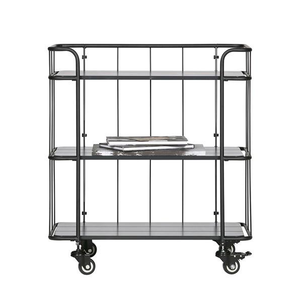 Caro Low Metal Trolley Shelving Unit