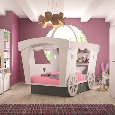 MATHY BY BOLS CARRIAGE BED with Storage Drawers