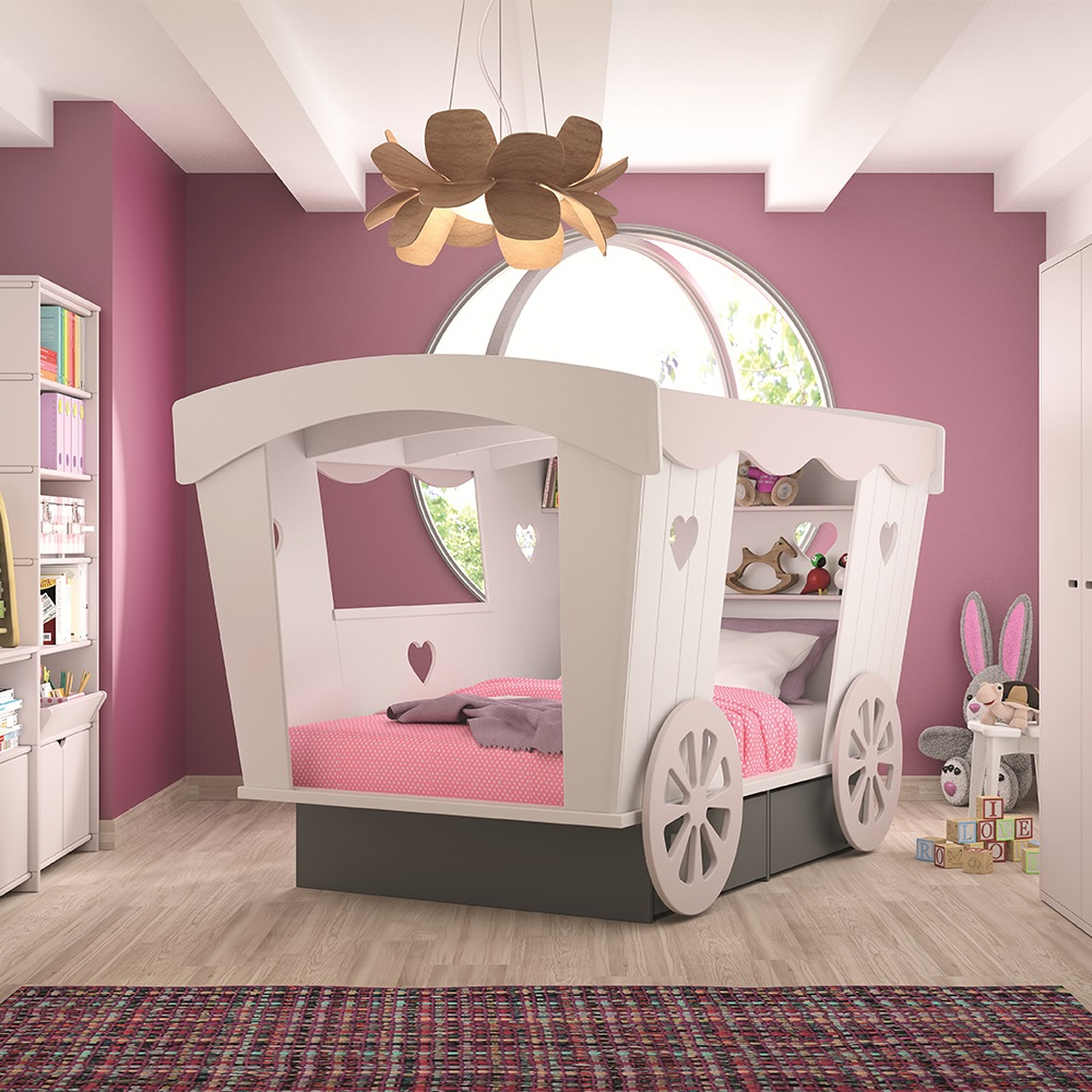 Princess Kids Bedroom Sets Interior Of Master Bedroom Newborn Boy Bedroom Ideas Bedroom For Kids: Mathy By Bols Carriage Bed With Storage Drawers