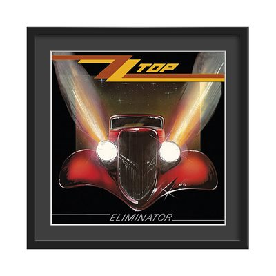ZZ TOP FRAMED ALBUM WALL ART in Eliminator Print