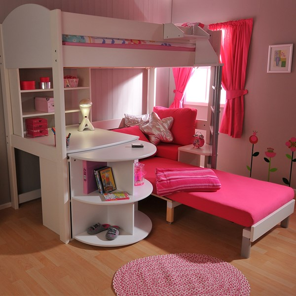 Kids Avenue Bed for Children with Pink Sofa Bed