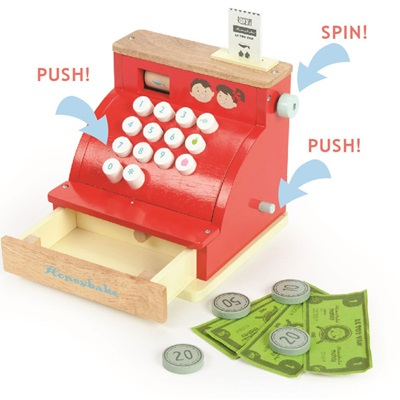 LE TOY VAN CASH REGISTER with Soft Touch Buttons