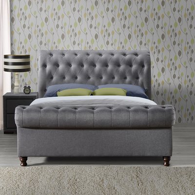 CASTELLO UPHOLSTERED BED in Grey by Birlea