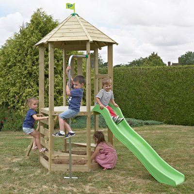 TP TOYS CHILDREN'S CASTLEWOOD TOWER with Wavy Slide