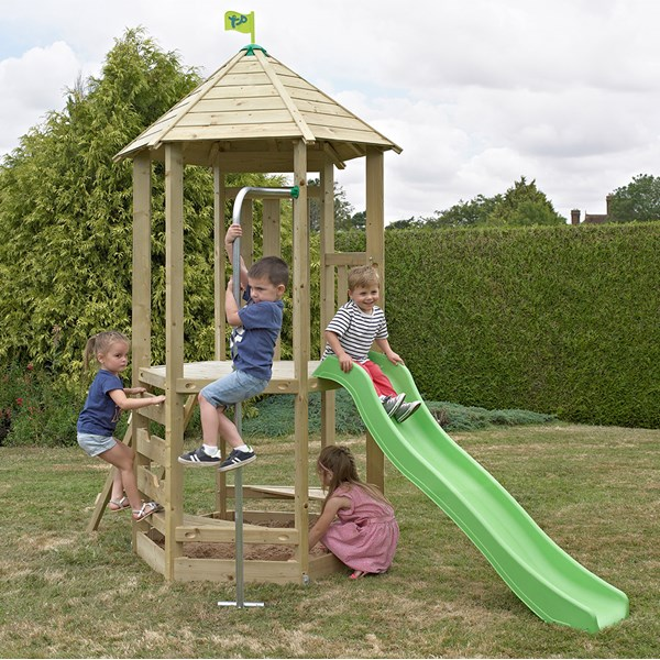 Children's Castlewood Tower with Wavy Slide