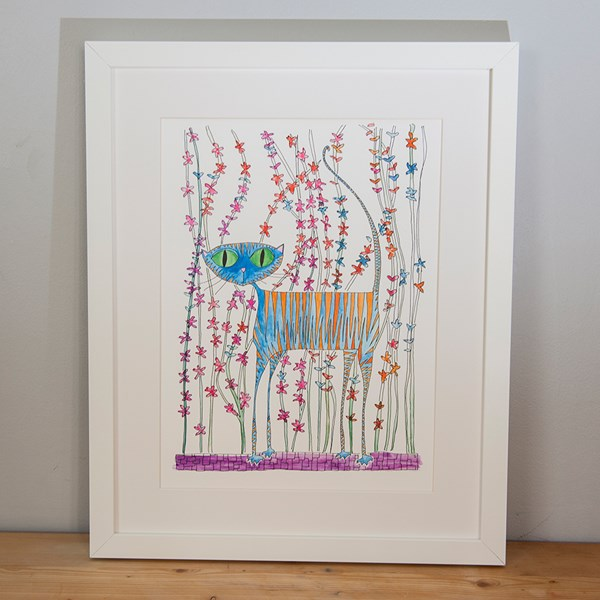 Cats Love Picnics Illustrated Print by Sarah Lovell