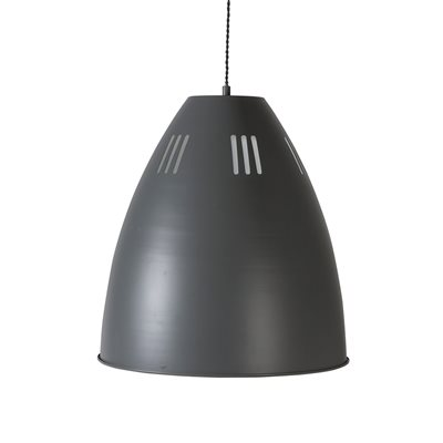 GARDEN TRADING CAVENDISH PENDANT INDUSTRIAL CEILING LIGHT in Charcoal