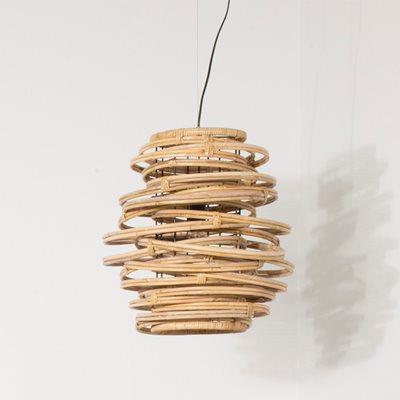 HANGING RATTAN LAMP