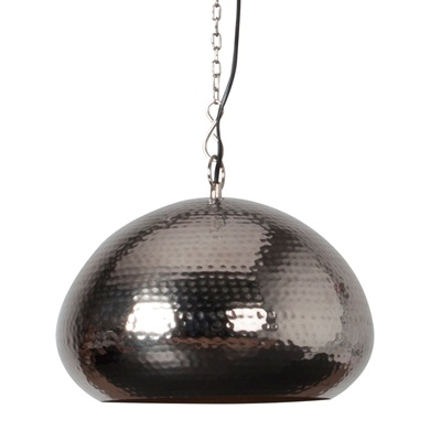 OVAL DINING CEILING LIGHT with Metallic Hammered Surface