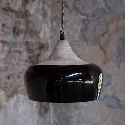 COCO INDUSTRIAL CEILING LAMP in Glossy Black