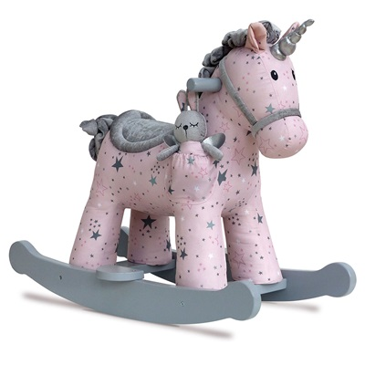 CELESTE AND FAE UNICORN ROCKER ROCKING HORSE