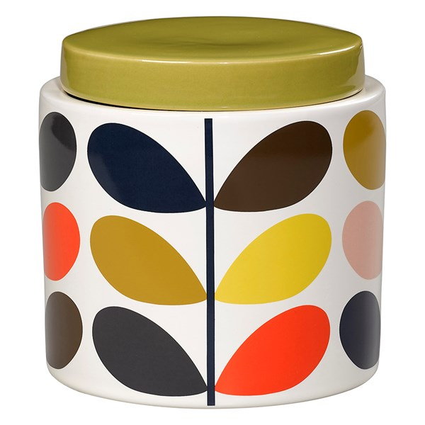 Orla Kiely Ceramic 1L Storage Jar in Multistem Print