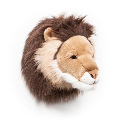 KIDS LION PLUSH ANIMAL HEAD WALL DECOR