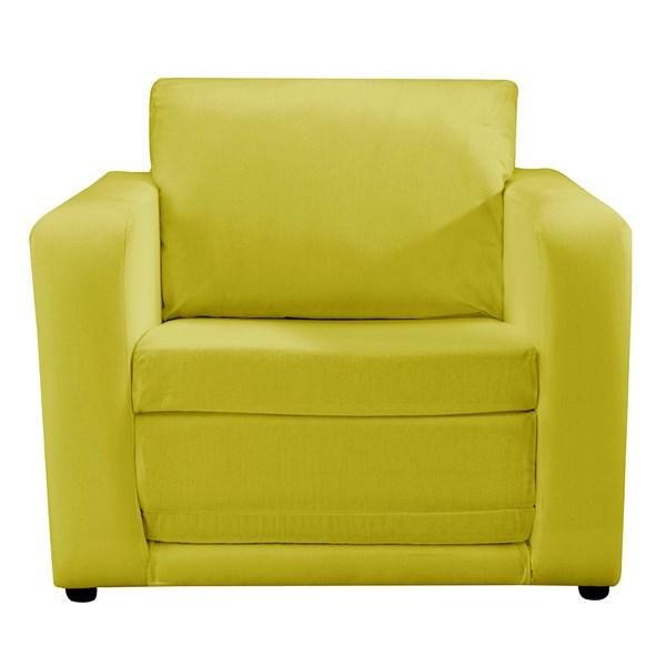 Kids Folding Chair Bed in Plain Green
