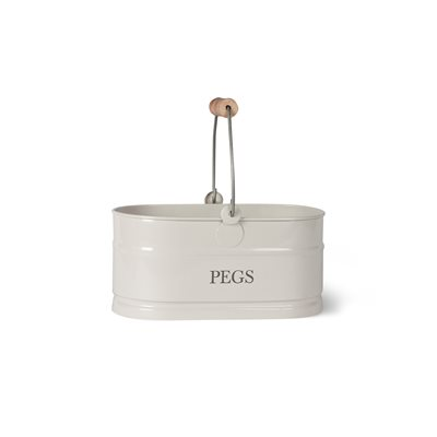PEG BUCKET In Chalk by Garden Trading