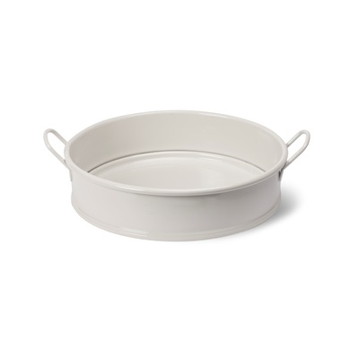 ROUND TRAY WITH CARRY HANDLES in Chalk by Garden Trading