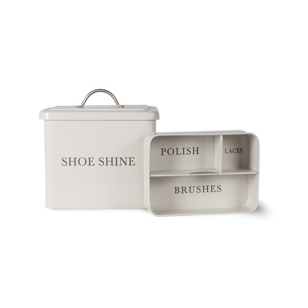 SHOE SHINE BOX In Chalk by Garden Trading