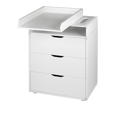 FLEXA BABY CHANGING UNIT in White with Turnable Top