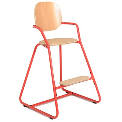 TIBU HIGH CHAIR in Bright Red