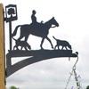 Horse and Hound designed hanging Basket Brcaket