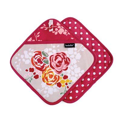 CHARLOTTE 2PK POT HOLDER in Floral Design