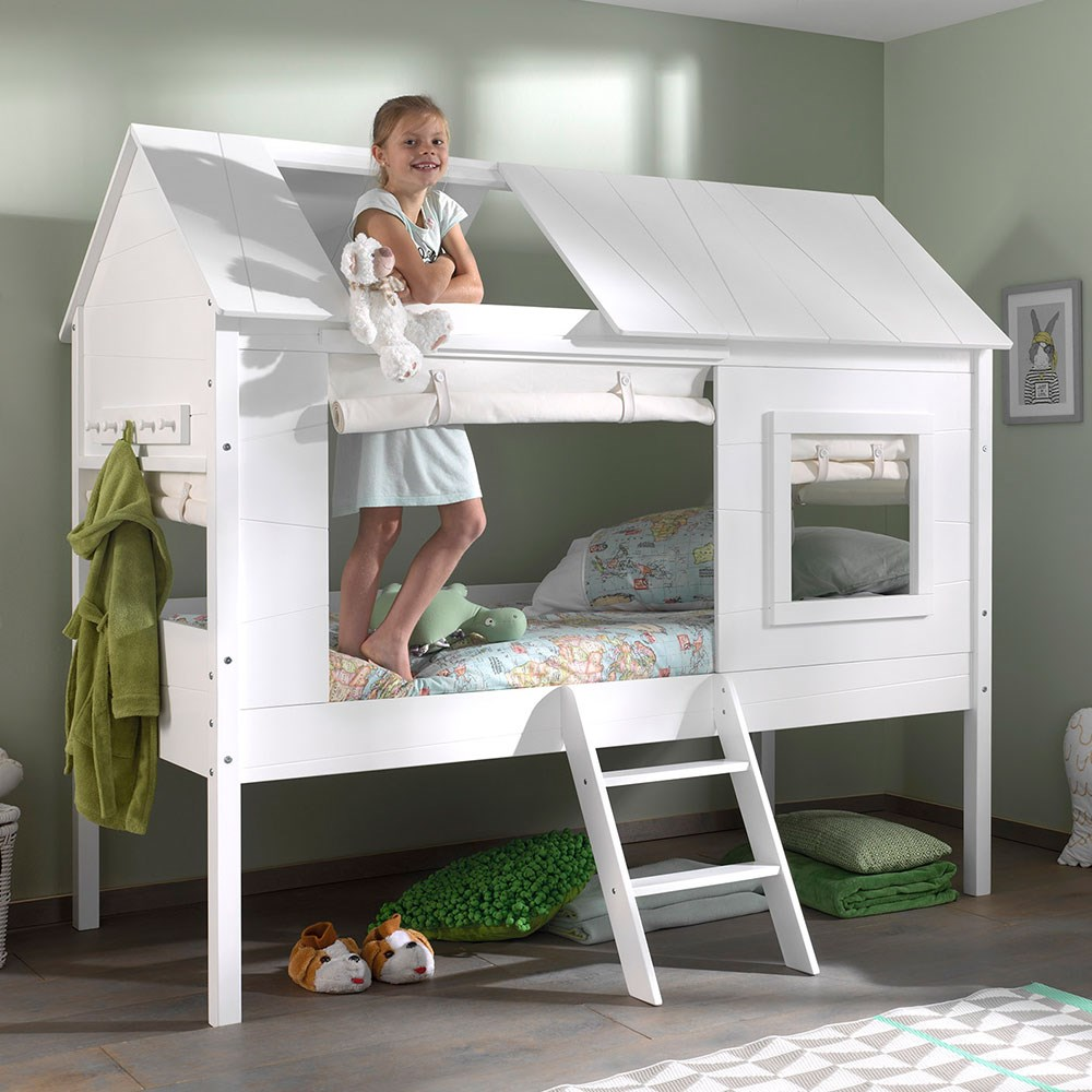 Charlotte Kids Treehouse Bed In White Cuckooland