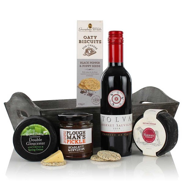 Cheese and Wine Tray Luxury Gift Hamper