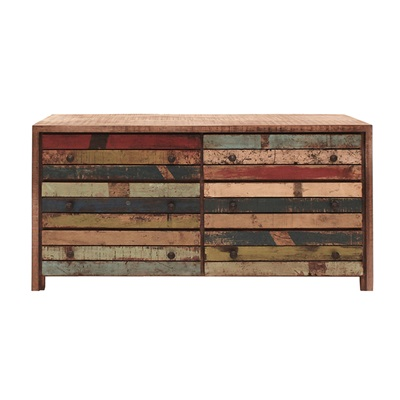 RUSTIC HAITI CHEST OF DRAWERS & DRESSER