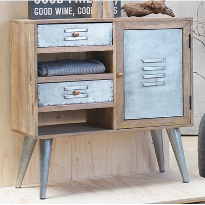 INDUSTRIAL LEIPZIG Sideboard Cabinet With Shelves