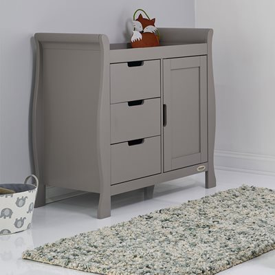 Obaby Stamford Dresser & Baby Changing Unit in Taupe Grey