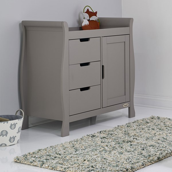 Stamford Dresser & Baby Changing Unit in Taupe Grey by Obaby