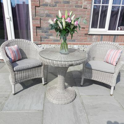 CHESTER RATTAN BISTRO SET IN PRAIA by 4 Seasons Outdoor
