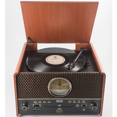GPO CHESTERTON RECORD PLAYER, CD AND CASSETTE PLAYER