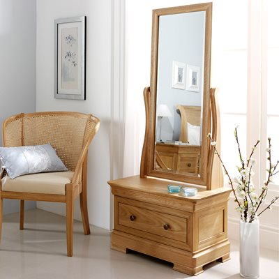 WILLIS & GAMBIER LYON CHEVAL MIRROR with Drawer