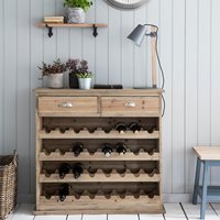 GARDEN TRADING CHEDWORTH WOODEN WINE RACK & SIDEBOARD