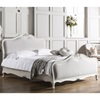 Chic Upholstered Bed Frame in Chalk by Frank Hudson