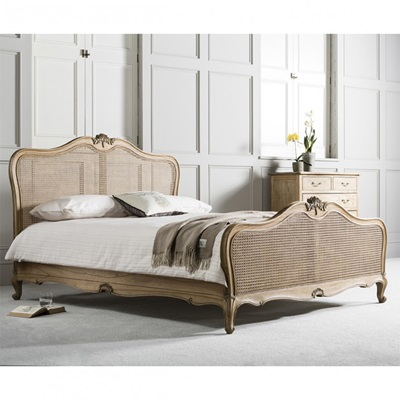 CHIC CANE BED FRAME IN WEATHERED ASH by Frank Hudson