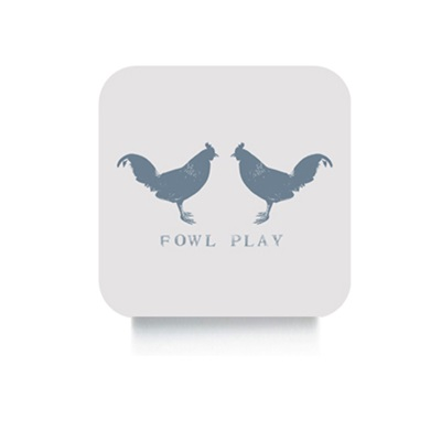 FOWL PLAY CHICKEN SET OF 4 COASTERS by Raw Xclusive
