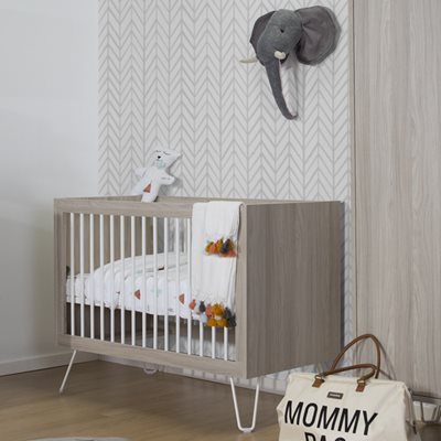 IRONWOOD BABY COT in Ashen