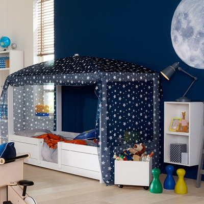 LIFETIME 4 IN 1 COMBINATION BED with Optional Blue Canopy