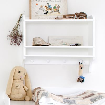 CHILDREN'S WALL MOUNTED BOOKSHELF & STORAGE UNIT