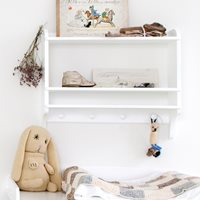 CHILDRENS WALL MOUNTED BOOKSHELF & STORAGE UNIT
