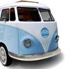 Unique Designer Camper Van Bed for Kids in Blue and White