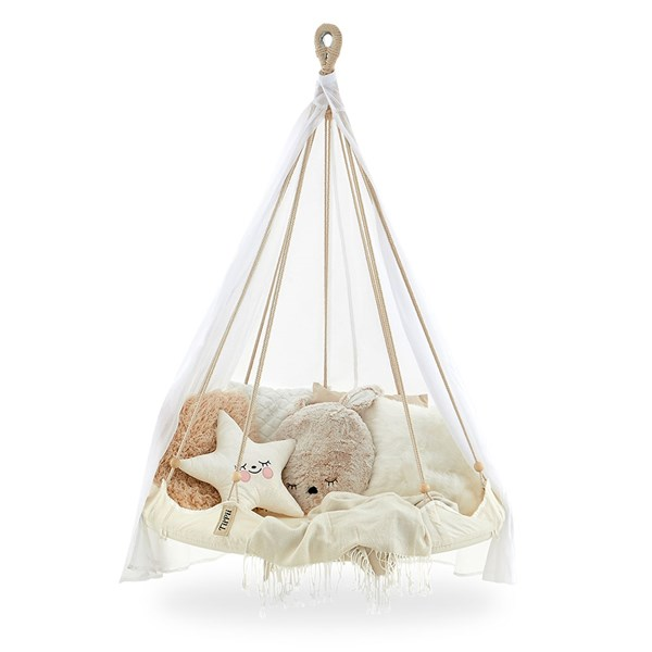 Kids TiiPii Bambino Hammock Bed in Natural White