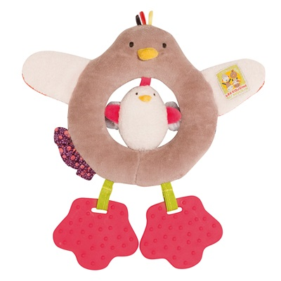 MOULIN ROTY CHILDRENS HEN RING RATTLE