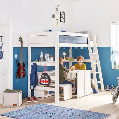 LIFETIME KIDS HIGH SLEEPER BED with Slanted Ladder
