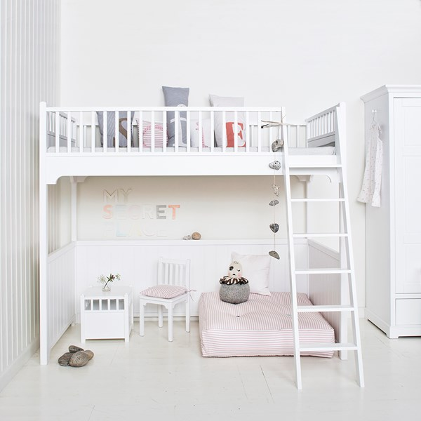 Childrens Luxury Loft Bed in White