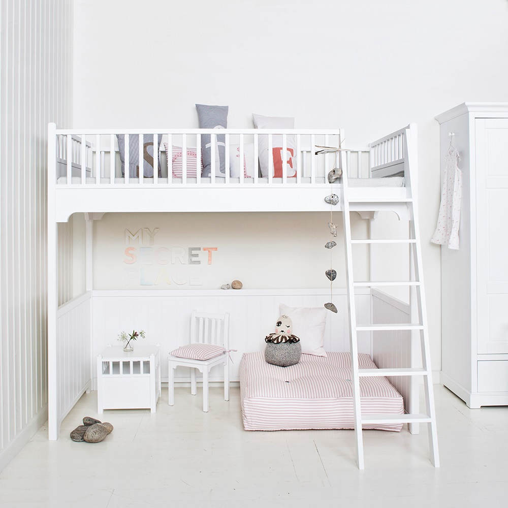 Childrens Luxury Loft Bed In White Single Beds Cuckooland