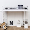 Childrens Luxury Hight Loft Bed in White with Storage