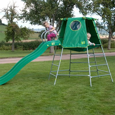 TP TOYS CHILDREN'S EXPLORER CLIMBING FRAME AND DEN  with Slide